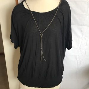 AGB Woman Peasant like Top with Necklace Size 3